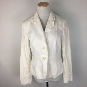 Banana Republic Women's White Preppy Blazer Size 4
